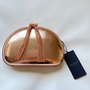 NWT Ted Baker Rose Gold Evening Bag
